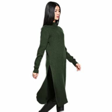 b8cdbe36f58 Image Unavailable. Image not available for. Color  Women Sweater Dress  Knitted Cashmere Wool ...