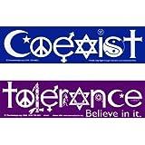 Coexist and Tolerance Bumper Stickers
