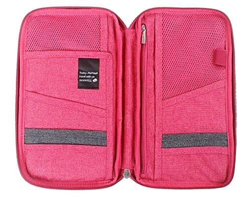 np-thainess-unisex-passport-holder-case-bag-travel-wallet-accessories-rose