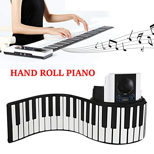 iWord 88 Key Roll Up Piano With MIDI Keyboard Portable Keyboard Piano, Premium Grade Silicone US Stock