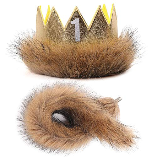 Max King Of The Wild Things (Where The Wild Things are Max Costume Party Supplies Wild One Crown Tail First Birthday Party Girls Boys King of The Jungle Baby Birthday)