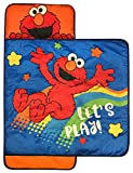 Sesame Street Lets Play Nap Mat - Built-in Pillow and Blanket featuring Elmo - Super Soft Microfiber Kids'/Toddler/Children's Bedding, Ages 3-7 (Official Sesame Street Product)