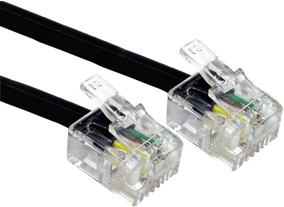 Alida Systems 30m Adsl Kabel Premium Qualität Vergoldet Kontakt Pins Hoch Geschwindigkeits Internet Breitband Router Oder Modem Zu Rj11 Telefon Socket Oder Microfilter Schwarz Elektronik
