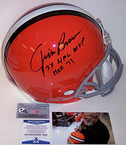 Jim Brown - Autographed Official Full Size Riddell Authentic Proline Football Helmet - Cleveland Browns Throwback - BAS Beckett ()