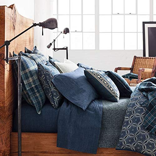 Ralph Lauren Artisan ロフトムーアキング羽毛布団カバー ブルー B07NZD6S7S