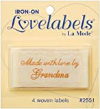 LoveLabels 4/pkg Inch Made With Love By Grandma Inch