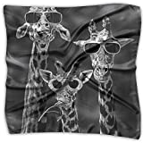 Sunglass Giraffes Women's Square Scarf Headdress Fashion Neckerchief