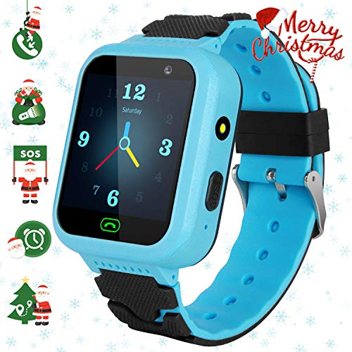 GPS Children's Watches Phone, Sports Smart Watches for 4-15y Boys and Girls, HD Touch Screen Smartwatch Phone Real-time Positioning with Call Remote Camera SOS Alarm Voice Messages for Students from Lsflair