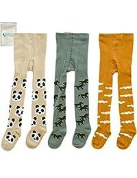 3-Pack Cute Baby Toddler Girls Boys Tights Leggings Pants Warm Stockings