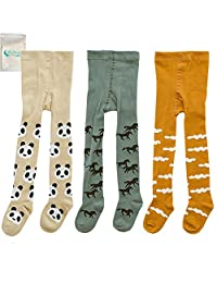 Gellwhu 3-Pack Cute Kids Girls Boys 0-3T Tights Legging Pants Warm Stockings