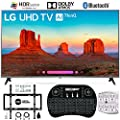 """LG 65UK7700PUD 65"""" 4K HDR Smart LED AI UHD TV w/ThinQ (2018), Wireless Backlit Keyboard, Wall Mount Kit Ultimate Bundle, and 750 Joule Surge Protector"""