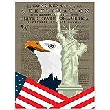 Declaration and Flag Patriotic Wall Art