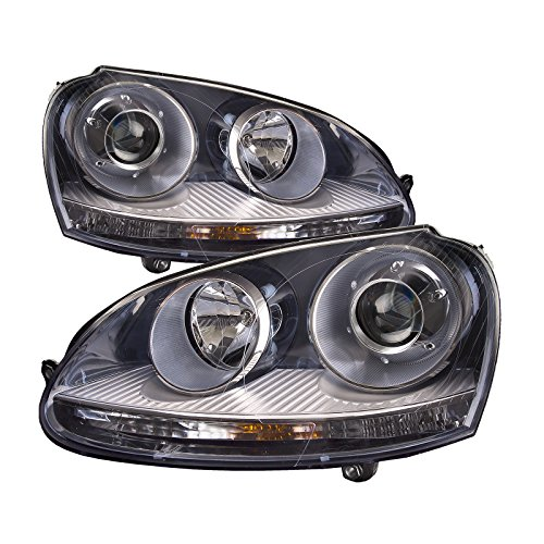 HEADLIGHTSDEPOT HID Headlights Compatible with Volkswagen GTI Golf Jetta Rabbit Includes Left Driver and Right Passenger Side Headlamps