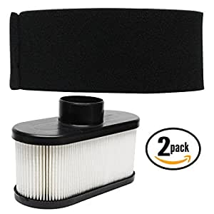 2-Pack Replacement 11013-7046 Pre-Filter & 11013-0752 Filter for Kawasaki - Compatible with Kawasaki FR651V AS00, Kawasaki FR651V AS04, Kawasaki FR651V AS05, Kawasaki FR691V AS00, Kawasaki FR691V AS04