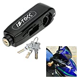 Motorcycle Grip Lock,Metal Alloy Anti-Theft Brake Lever Security Lock Throttle Grip Handlebar Lock Highly Visible And Convenient to Secure a Bike,Scooter,Moped or ATV (Black)