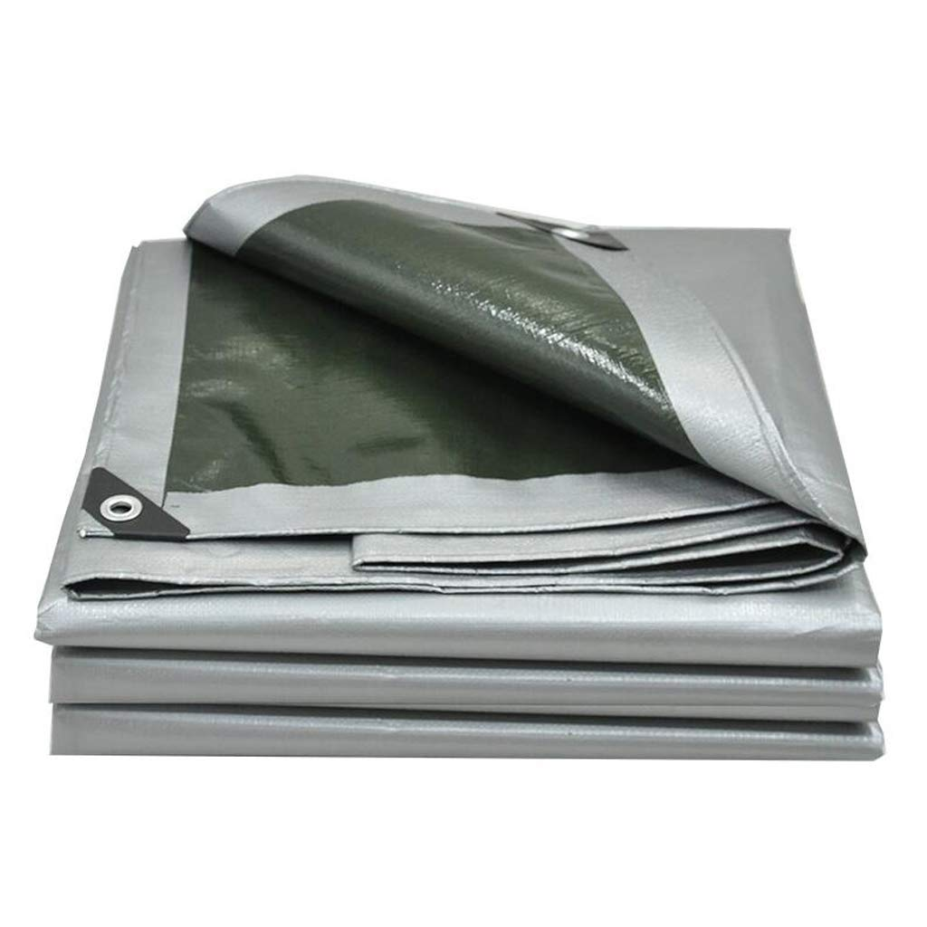 ASpb Thick and Practical Thick Tarpaulin Crepe Plastic Rain Tarpaulin Tarpaulin Tarpaulin Waterproof Sunshade Outdoor Sunscreen Insulation Tarpaulin (Size : 4 6m) (Size : 34m) by ASpb