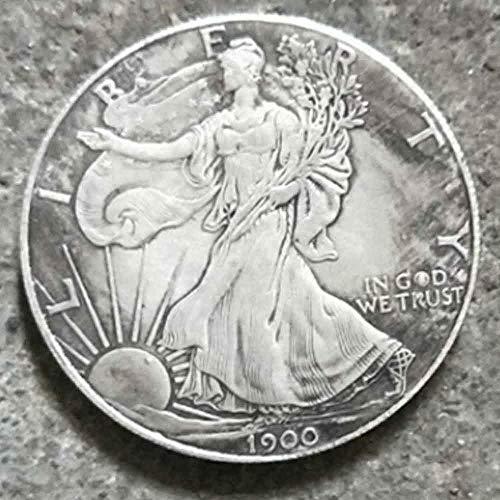 BoBoLing Best Morgan US Dollars-1900 Old Coin Collecting-US Dollar USA Old Original Pre Morgan Dollar ()