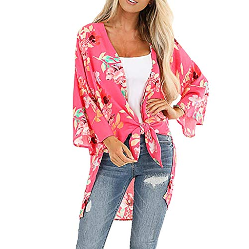 HAPPIShare Womens Open Front Knit Sheer Cardigans Summer Lightweight Long Sleeve Kimono Long Sweater - Sheer Boxy
