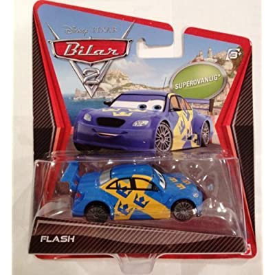 Flash Disney / Pixar Cars 2 Movie 155 Die Cast Car Swedish Racer Nilsson Super Chase!: Toys & Games