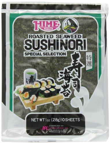 - Hime Seaweed Sushi Nori, 10 Sheets, Net. Wt. 1 Ounce
