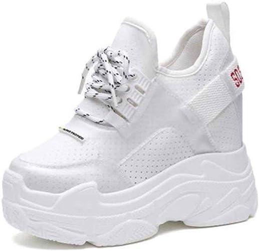 Scarpe da Ginnastica con Zeppa Nascoste da Donna Moda Sneaker Alta con  Plateau Sneakers Traspiranti Tacchi Alti 12 Cm Maglia Sport da Corsa Scarpe  da Trekking: Amazon.it: Scarpe e borse