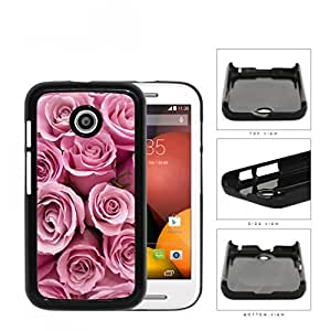 Bunch Of Pink Rose Flowers Hard Plastic Snap On Cell Phone Case Motorola Moto E