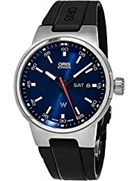 Williams F1 Day Date Automatic Blue Dial Black Rubber Mens Watch 735-7716-4155RS. Oris