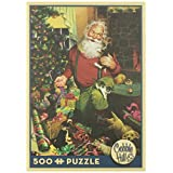 Cobble Hill Santa's Cats and Dogs, 500-Piece
