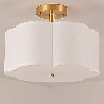 Pantalla de cristal dorado Luces de techo atmosférico dormitorio ...