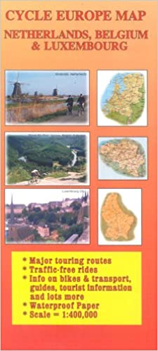 Cycle Europe Map Netherlands, Belgium & Luxembourg Cycle Europe Maps ...