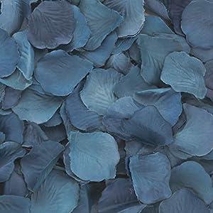 Koyal Wholesale 200-Pack Silk Rose Petals, Navy Blue 87