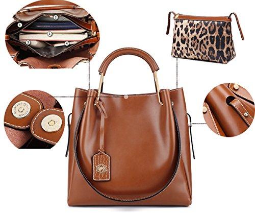 de bandoulière à main de haute véritable Sacs Brown Totes les à mariage en poignée couleur cuir sacs pour solide de clubs supérieure à de partie capacité sac Brdqw0cqP5