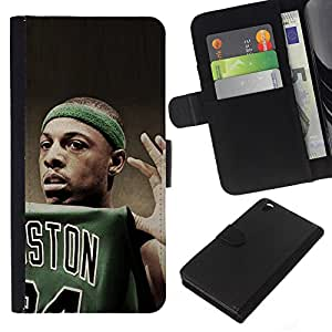 Stuss Case / Funda Carcasa PU de Cuero - Boston Baloncesto - HTC DESIRE 816