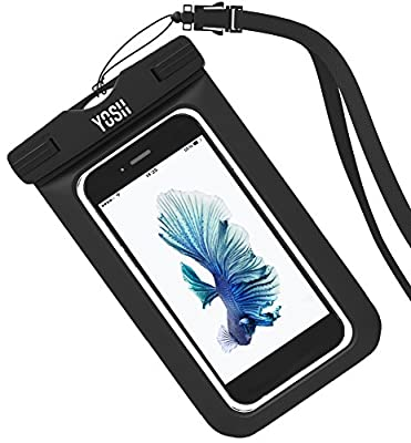 Waterproof Case, YOSH Universal Cell Phone Dry Bag Pouch for Apple iPhone 6S 6 6S Plus SE 5S Note 5 S7 S6 Edge Pixel XL LG Huawei for Smartphone up to 6 inches
