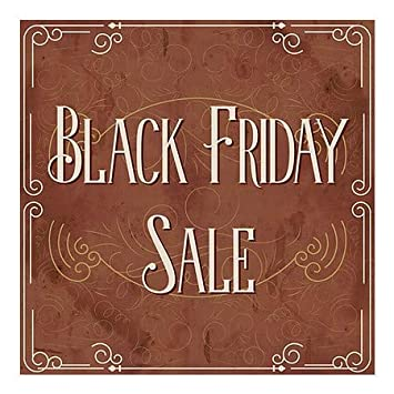 CGSignLab Victorian Card Window Cling 24x24 Black Friday Sale 5-Pack