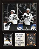 NHL Crosby-Lemieux Pittsburgh Penguins Player Plaque