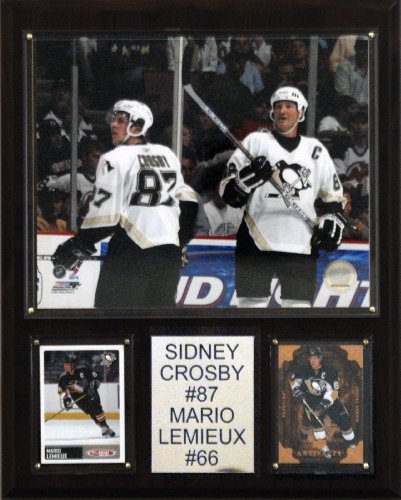 NHL Crosby-Lemieux Pittsburgh Penguins Player Plaque