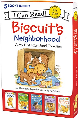 Biscuit's Neighborhood: 5 Fun-Filled Stories in 1 Box! (My First I Can - Sets Readers Emergent