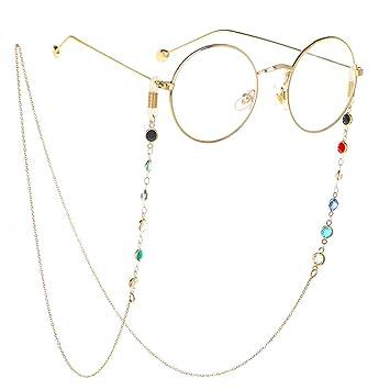 Parkomm - Cadenas para Gafas de Lectura, Cinta para Gafas, Soporte para Gafas, Soporte para Gafas y Accesorios para Gafas para Hombre y Mujer 02*: ...