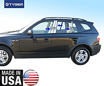 Fit 00 - 05 BMW X3 6 pc acero inoxidable cromo pilar Post Trim: Amazon.es: Coche y moto
