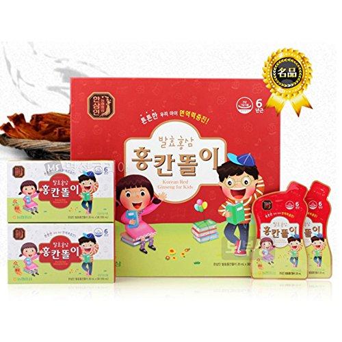 NH HANSAMIN Fermentative Korean Red Ginseng Beverage 20ml x 30 Packs For 3~13 yrs Kids by Hansamin
