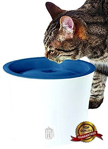 Catit Design Senses Drinking Fountain, With Water Softening Filter by Catit