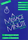 A Message in a Minute, William D. Wolfe and Sheryl J. Anderson, 0817012796