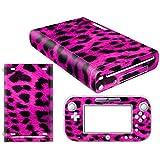 CSBC Skins Nintendo Wii U Design Foils Faceplate Set - Pink Leopard Design