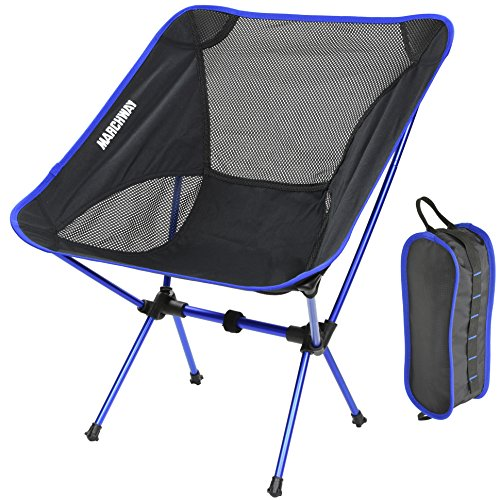 Ultralight Folding Camping Chair, Portable Compact for Outdoor Camp, Travel, Beach, Picnic, Festival, Hiking, Lightweight Backpacking (Dark Blue)