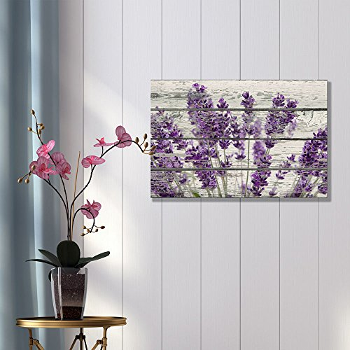 Framed Vintage Retro Purple Flowers Canvas Prints