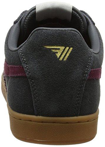 Suede Herren Sneaker Graphite Gola Equipe Grau Burgundy Gum HE4xdqw
