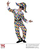 L Boys SATIN HARLEQUIN Costume for Medieval jester Clown Fancy Dress Outfit Large 140cm 8-10yrs Childs Kids