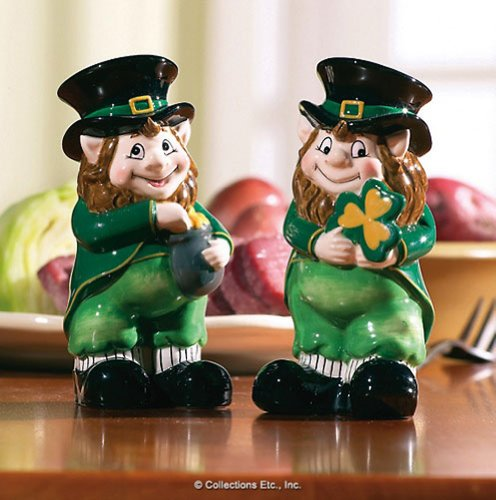 Lovable Irish Leprechaun Salt & Pepper Shaker
