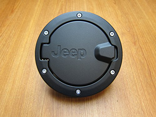 Jeep Wrangler Unlimited Black Satin Gas Cap Fuel Door Mopar OEM by Mopar